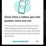 WhatsApp: cómo enviar fotos y videos que desaparecen automáticamente después que son vistos