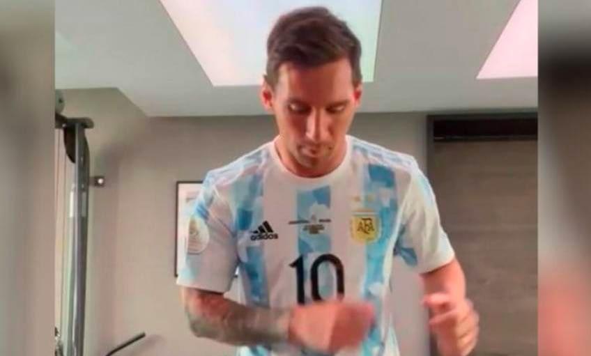Messi bailó y se sumó a los atletas argentinos en los Juegos Olímpicos 0